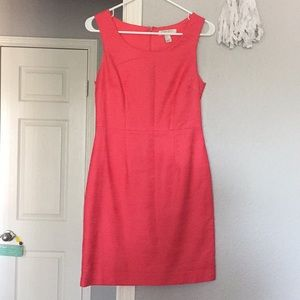 Coral dress, perfect for the spring